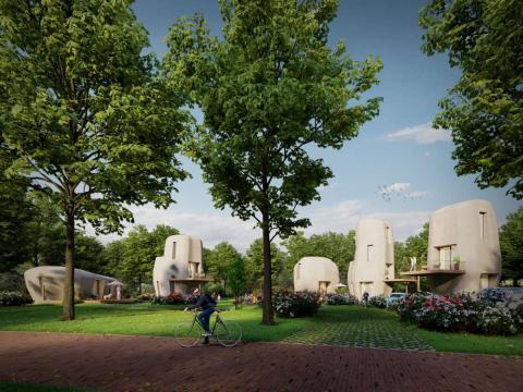 3D betongeprinte woningen in Eindhoven
